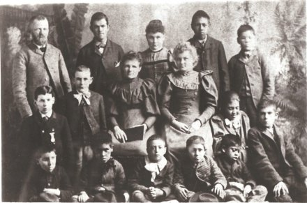 Students, New Mexico School for the Deaf, 1893